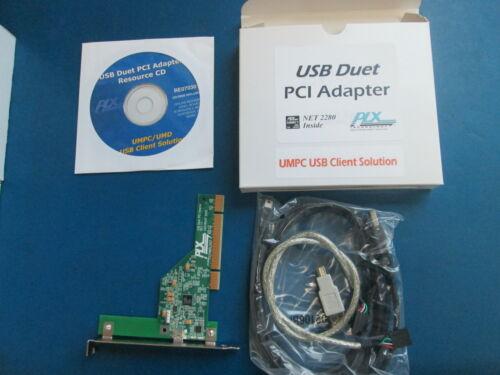 LOT OF 2 PLX 2280BC F USB DUET PCI ADAPTERS