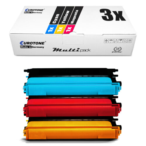 3x Eurotone ECO Patrone kompatibel für Brother MFC-9450-CN MFC-9840-CDW