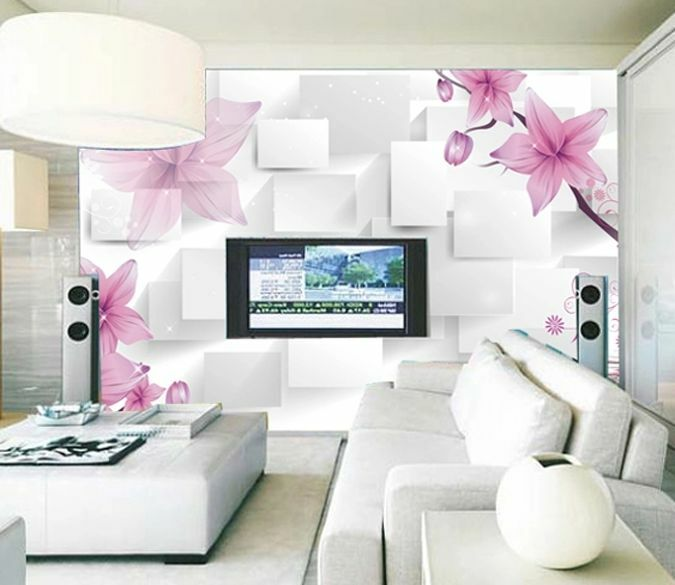 3D Violet 144 Photo Papier Peint en Autocollant Murale Plafond Chambre Art
