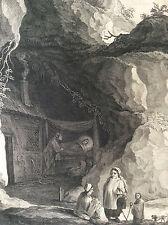 La bohémienne gravure pointe sèche Surugue 1748 XVIIIe d'après David II Teniers