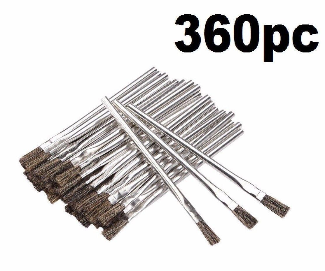 360 Piece 3 8 in. Horsehair Bristle Acid Shop Hobby Brushes Glue Oil Flux