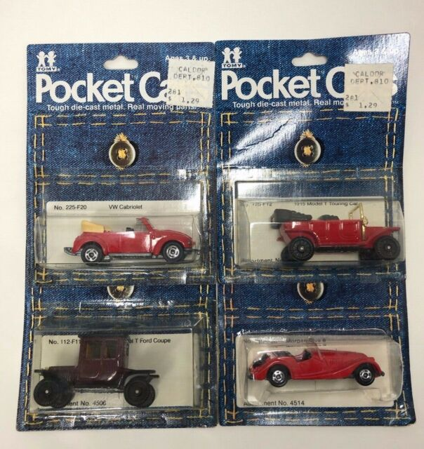 Tomy Pocket Cars Lot 1915 Model T Ford Coupe Touring VW