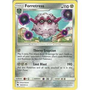 Pokemon-TCG-Card-Forretress-124-214-Rare-SM8-Lost-Thunder-English