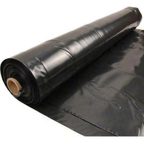 Black for sale online Poly-America 410B 10 ft X 10 ft 4 Mil Plastic Sheeting