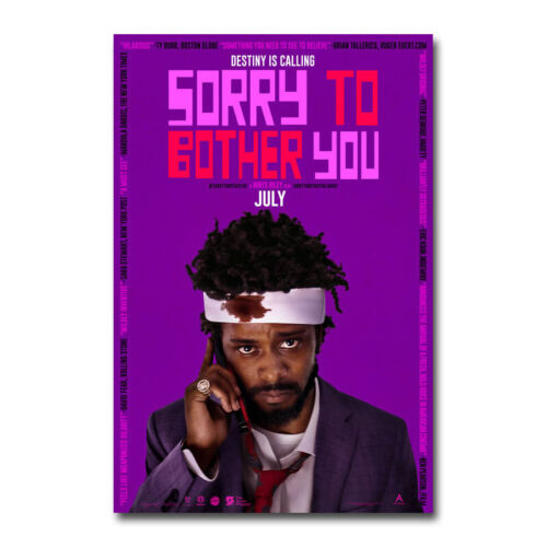 Sorry To Bother You Movie Poster Canvas Silk Art Home Decor Print 24x36 inch