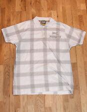 Everlast Plaid White & Grey Silver Mens Casual Shirt - Size Medium