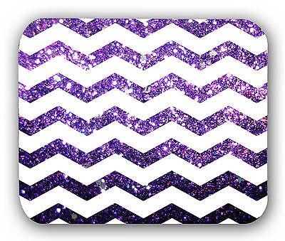 Chevron Glitter Picture Purple Mousepad Anti-Slip Mouse Pad Mat Mice Mousepad