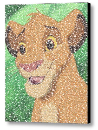 The Lion King Baby Simba Quotes Mosaic AMAZING Framed 9X11 Limited Edition Art