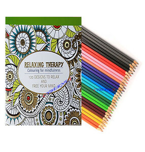 Image Is Loading 120 Designs Adult Anti Stress Colour Therapy Colouring