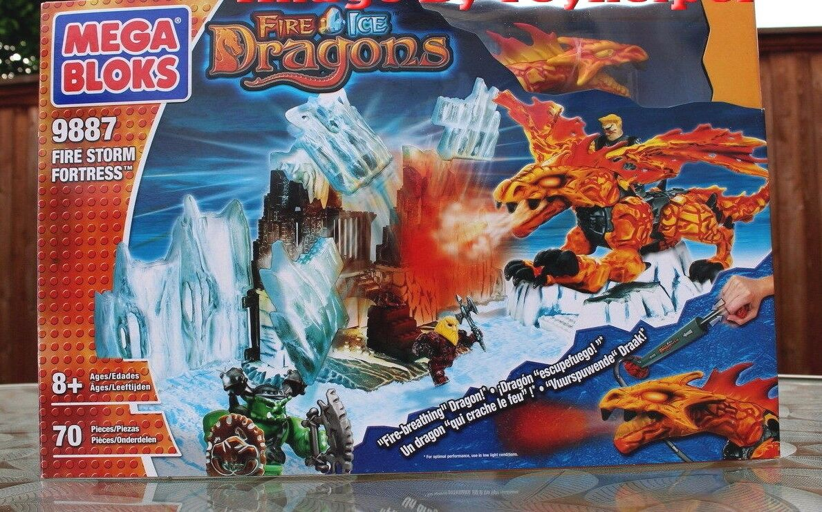 Mega Bloks 9887 Dragons Fire Storm forteresse Playset High Grade Guerrier méchant