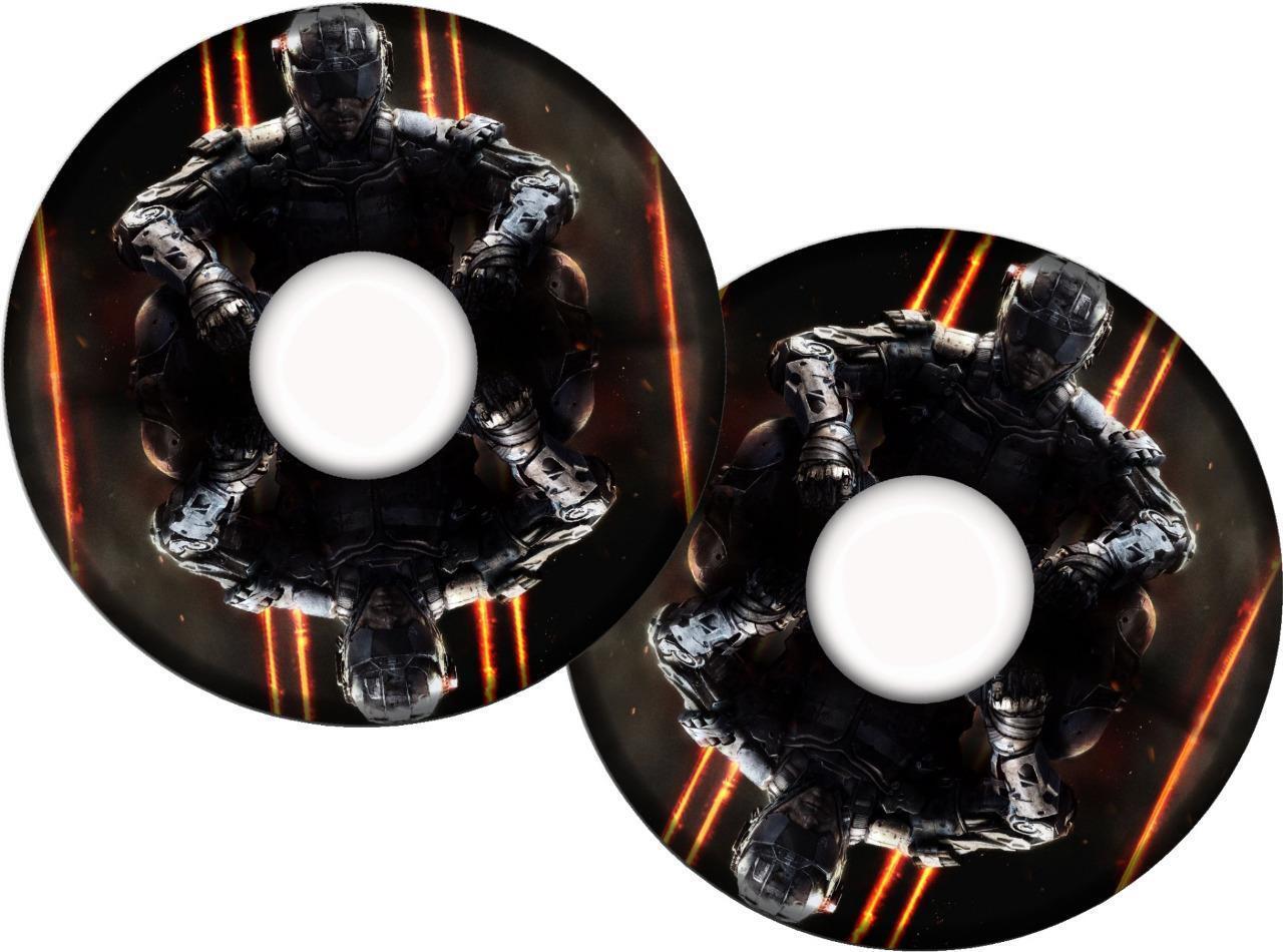 s l1600 - Cubrerradios para Silla de Ruedas Adhesivos 100 Diseños Personalizado Nombre