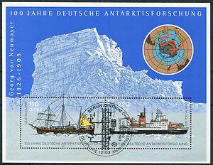 Bund-Block-57-gestempelt-ESST-Berlin-BRD-2229-2230-Antarktisforschung-used