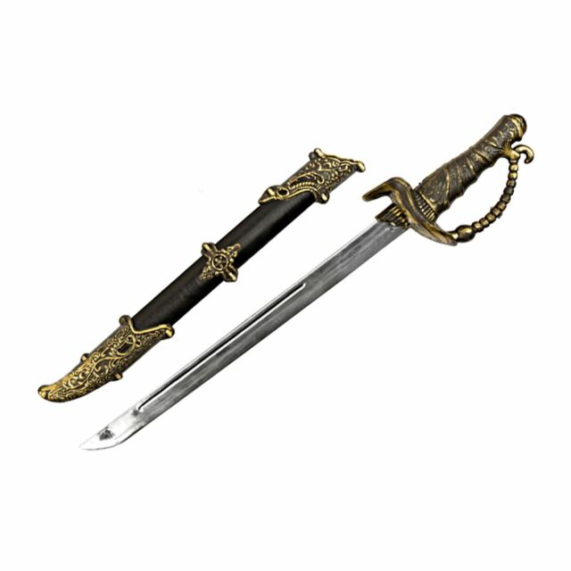 Industrial Victorian Pirate Sword with Scabbard Fancy Dress Toy Game Weapon