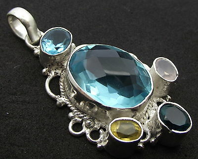 Unique Andara Crystal Set Pendant 925 Silver COA Design 18