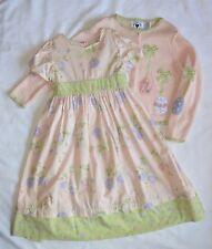 EASTER Dress & Cardigan SET Floral Embroidered PINK Spring Wedding Flower Girl 6