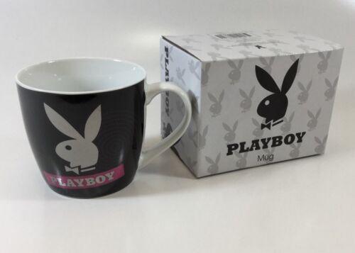 PLAYBOY BLACK SQUAT COFFEE MUG IN GIFT BOX PINK HYPNO