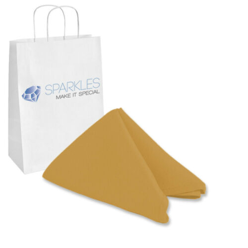 "Gold Wedding Linen Restaurant vp 10 pcs 20/""x20/"" inch Polyester Cloth Napkin"