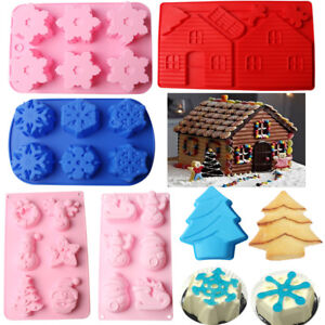 Christmas-Silicone-Muffin-Pan-Chocolate-Pastry-Cake-Bakeware-Baking-Tray-Moulds
