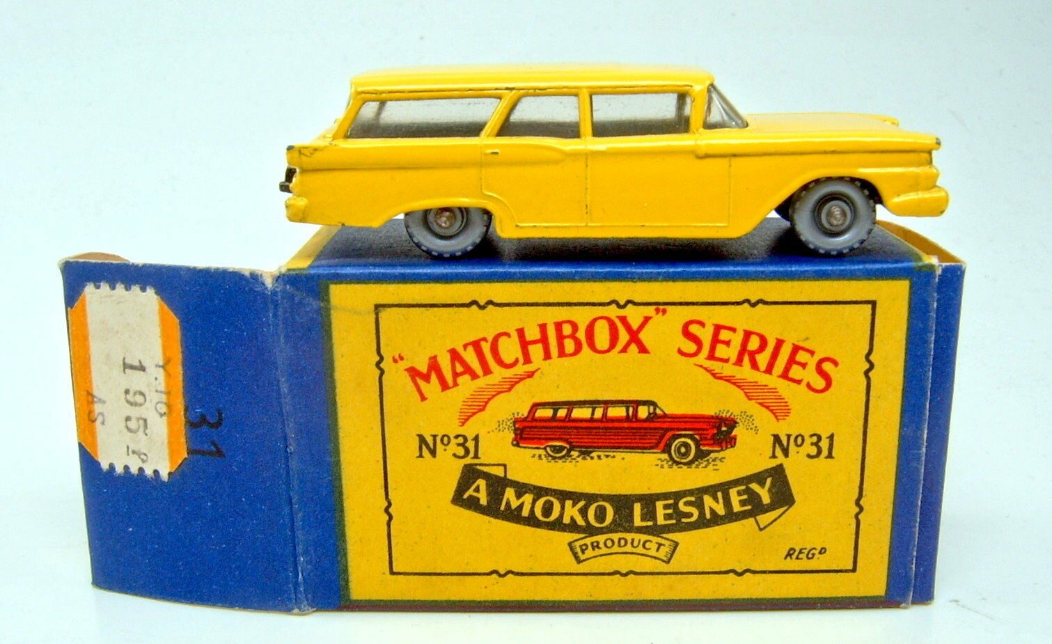 Matchbox RW 31b ford Station Wagon rare 1. Color amarillo negra la placa base