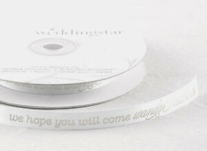 "Wanderlust Message 5/8"" Wedding Favor Ribbon, 2 Sizes, 26 Colors!"