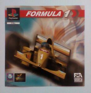 * Incrustation Avant Seulement * Formule 1 Incrustation Avant Ps1 Psone Playstation-afficher Le Titre D'origine 84ovrwsy-07180025-883340065