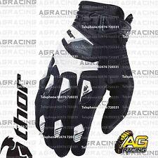 Thor Deflector Gloves White Black Adult XL Size 11 Motocross Enduro Quad ATV