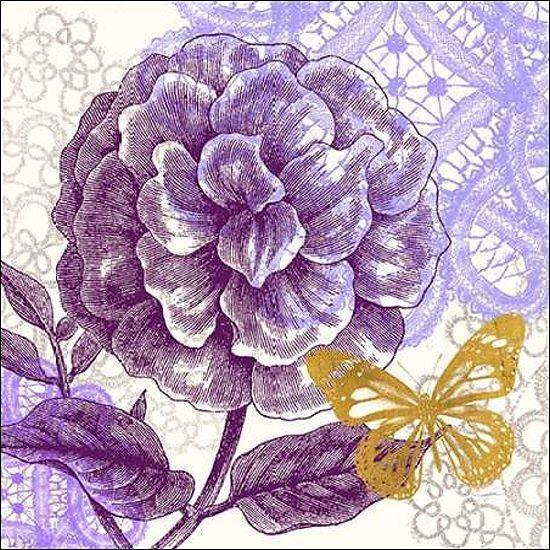 Evangeline Taylor  Lace Butterfly I Keilrahmen-Bild Leinwand Schmetterling Blaume