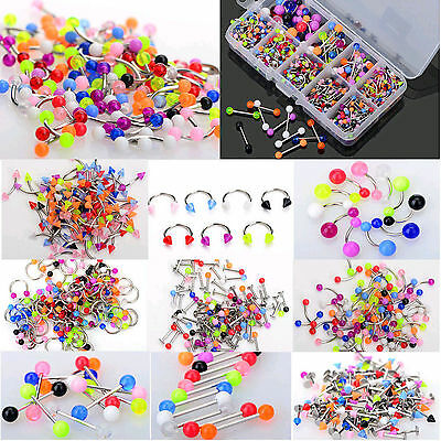 CL 45X Mixed Wholesale Tongue Eyebrow Lip Belly Navel Ring Body Piercing Jewelry