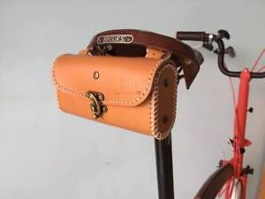 Details About Brompton Leather Saddle Bag Vintage Bike Folding Select Brown Black Honey