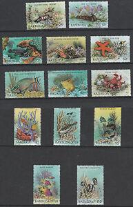 Barbuda 3248-1987 Marine Que Vie Définitive Set Complet 13 Vals Démonté Menthe Bas Prix