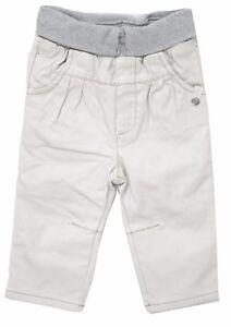 Pantalon-denim-beige-gris-double-chaud-bebe-fille-IKKS-X42906022-Taille-6-Mois