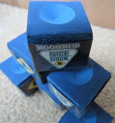 NEW Billiards Blue Lot of 6 Moosehead Beer Billiard Pool Cue Chalk Nice Rack