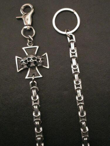 Geldbörsenkette Hosenkette u Eisernes Kreuz aus Edelstahl Ring Schlüsselkette