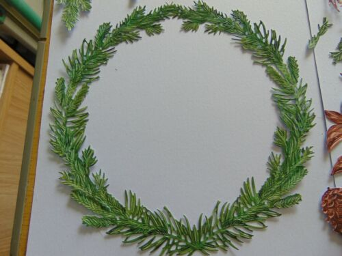 Tattered Lace Die Cuts Charisma OVER THE MANTLEPIECE WREATHS /& FLORALS tradition