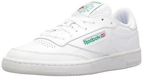 70a837200d76e6 Men Reebok Classic Club C 85 Soft Leather White Green Authentic ...