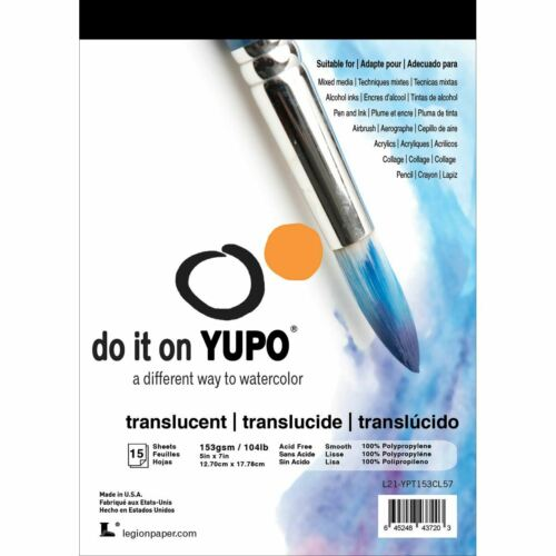 "Yupo Paper 5""X7"" 15 SheetsPkgTranslucent 104lb CL57"