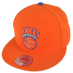 brand new 01d68 723b2 Image is loading NBA-Mitchell-Ness-TK07-New-York-Knicks-Orange-