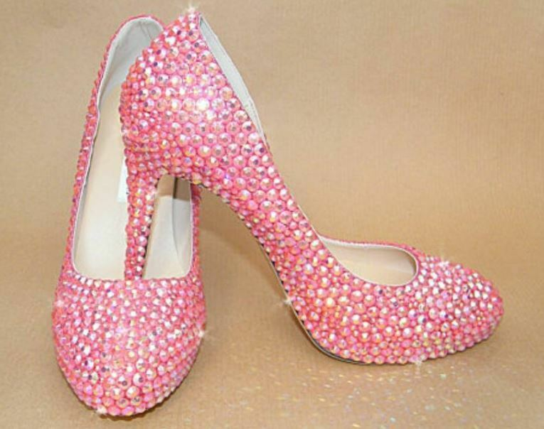 My 8 Lillie Handmade Customised Pink High heeled Schuhes UK 8 My EU 42 LN06 44 b6c5ce