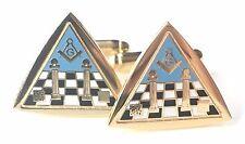 Freemason Masonic Temple & Carpet Enamel Crested Cufflinks (N40) Gift Boxed