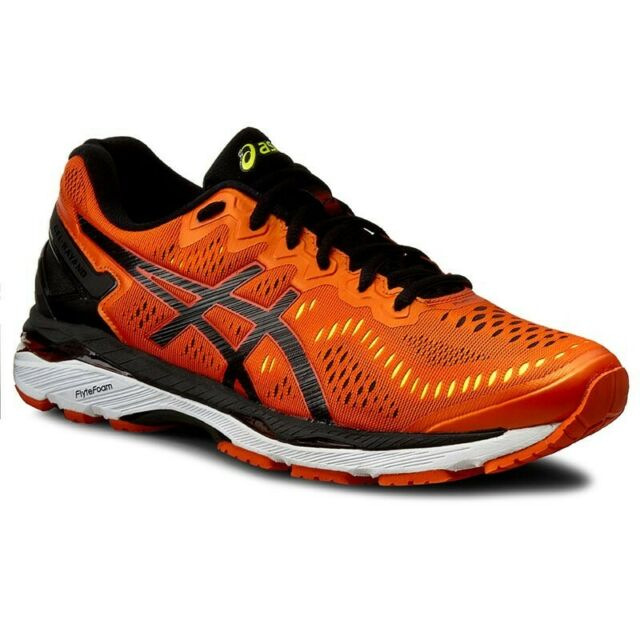 Asics Men's Gel-Kayano 23 Shoes NEW AUTHENTIC Orange/Black T646N-0990