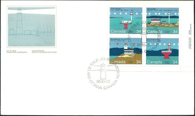 Canada   #1066a  LRpb   CANADIAN LIGHTHOUSES      New 1985 Unaddressed Cover