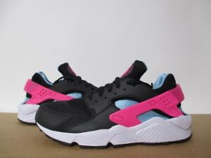62157a9efbe09 NIKE HUARACHE RUN SOUTH BEACH BLACK LASER FUSHSIA BLUE WHITE SZ 8-14 ...