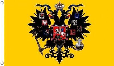 RUSSIAN IMPERIAL FLAG 5' x 3' Russia Czar Royal Standard USSR Soviet