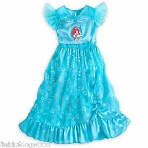 Image is loading NEW-Disney-Store-Princess-Ariel-Deluxe-Nightgown-Costume- 1fd813c84