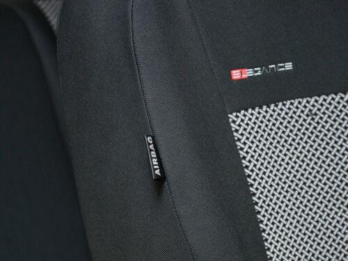 Cubiertas De Asiento De Coche Set Completo Ajuste Suzuki Swift-Gris Carbón
