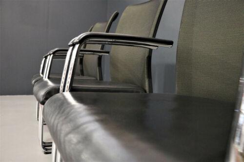 Steelcase 6 X Konferenz-Besucherstuhl Housse Cuir Noir Cantilever