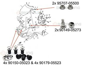 image is loading yamaha-trx-850-1996-2000-shouldered-wind-screen-