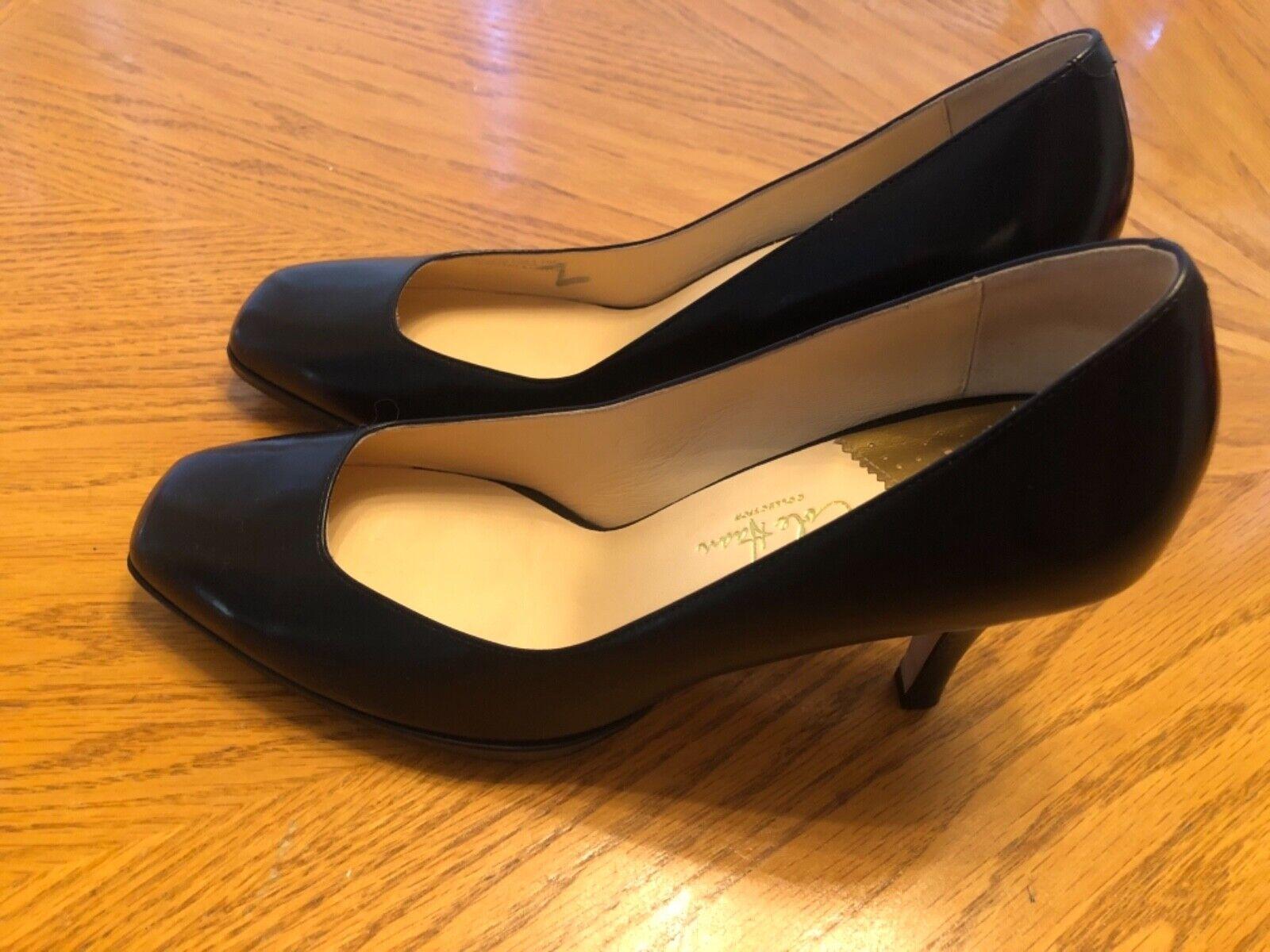 Cole Haan Heel's Heel's Heel's Black Leather Size 10C d369a5