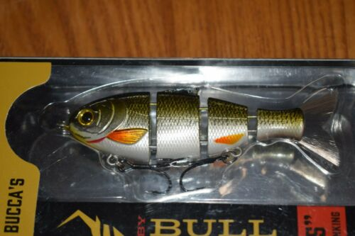 """Details about  /Catch Co Golden Shiner Mike Bucca/'s Baby Bull Shad 3.75/"""" Swimbait 1//2oz. NIB"""