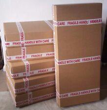 Base & Lid Cardboard box ELECTRIC guitar shipping / packaging + 5m BUBBLE WRAP